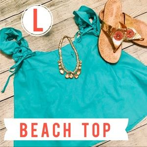 Tops - Teal Mint Colored Tank Shirt adjustable straps